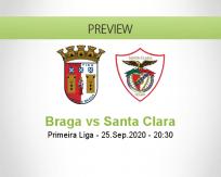 Sporting Braga Santa Clara betting prediction (26 September 2020)