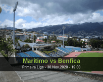 Marítimo Benfica betting prediction (01 December 2020)