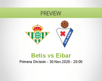 Betis Eibar betting prediction (01 December 2020)