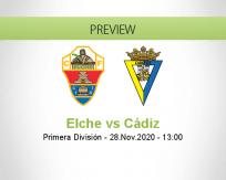 Elche Cádiz betting prediction (28 November 2020)