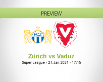 Zürich Vaduz betting prediction (27 January 2021)