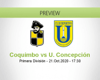 Coquimbo Unido Universidad Concepción betting prediction (21 October 2020)