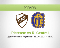 Platense R. Central betting prediction (20 October 2021)