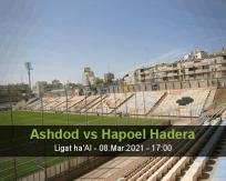 Ashdod Hapoel Hadera betting prediction (09 March 2021)