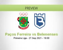 Paços Ferreira Belenenses betting prediction (27 September 2021)