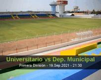 Universitario Dep. Municipal betting prediction (19 September 2021)