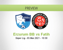 Erzurum BB Fatih betting prediction (03 March 2021)