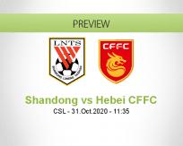 Shandong Luneng Hebei CFFC betting prediction (31 October 2020)