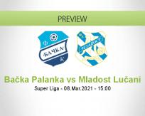 Bačka Palanka Mladost Lučani betting prediction (08 March 2021)