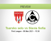 Tsarsko selo Slavia Sofia betting prediction (08 March 2021)