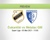 Čukarički Metalac GM betting prediction (03 March 2021)