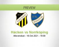 Häcken Norrköping betting prediction (18 October 2021)