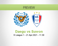 Daegu Suwon betting prediction (21 April 2021)