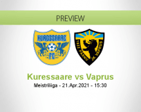 Kuressaare Vaprus betting prediction (21 April 2021)