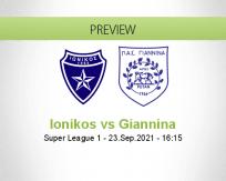Ionikos Giannina betting prediction (23 September 2021)