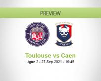Toulouse Caen betting prediction (27 September 2021)