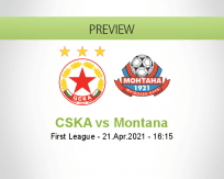 CSKA Montana betting prediction (21 April 2021)