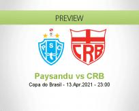 Paysandu CRB betting prediction (13 April 2021)