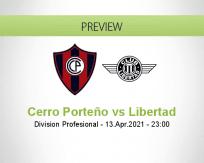 Cerro Porteño Libertad betting prediction (18 April 2021)