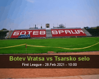 Botev Vratsa Tsarsko selo betting prediction (28 February 2021)
