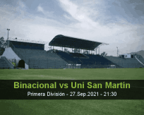 Binacional Uni San Martín betting prediction (27 September 2021)