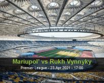 Mariupol' Rukh Vynnyky betting prediction (23 April 2021)