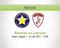 Asteras Larissa betting prediction (23 January 2021)