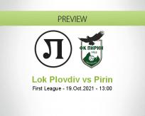 Lok Plovdiv Pirin betting prediction (19 October 2021)