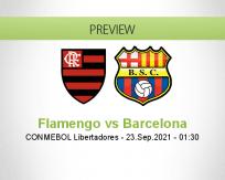 Flamengo Barcelona betting prediction (23 September 2021)