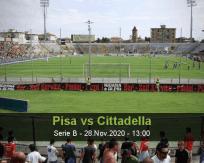 Pisa Cittadella betting prediction (28 November 2020)