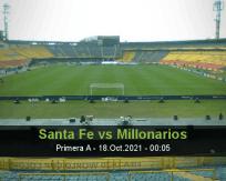 Santa Fe vs Millonarios