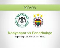 Konyaspor Fenerbahçe betting prediction (09 March 2021)