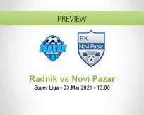 Radnik Novi Pazar betting prediction (03 March 2021)