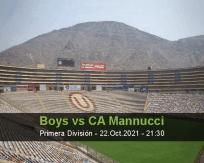 Boys CA Mannucci betting prediction (22 October 2021)