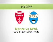 Monza SPAL betting prediction (25 September 2020)