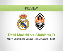 Real Madrid Shakhtar Donetsk betting prediction (21 October 2020)
