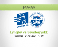 Lyngby SønderjyskE betting prediction (21 April 2021)