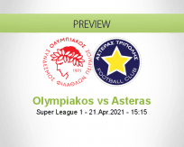 Olympiakos Asteras betting prediction (21 April 2021)