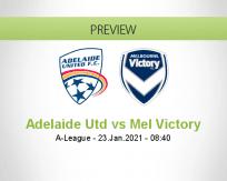 Adelaide Utd Mel Victory betting prediction (23 January 2021)