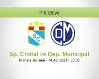 Sp. Cristal Dep. Municipal betting prediction (13 April 2021)