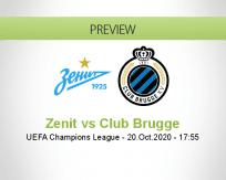 Zenit Club Brugge betting prediction (20 October 2020)