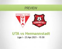 UTA Hermannstadt betting prediction (23 April 2021)