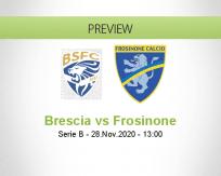 Brescia Frosinone betting prediction (28 November 2020)