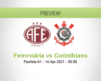 Ferroviária Corinthians betting prediction (13 April 2021)
