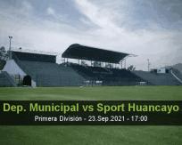 Dep. Municipal Sport Huancayo betting prediction (23 September 2021)