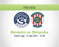 Slovácko Zbrojovka betting prediction (21 April 2021)