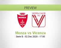 Monza Vicenza betting prediction (02 December 2020)