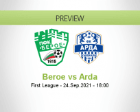 Beroe Arda betting prediction (24 September 2021)