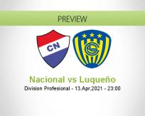 Nacional Luqueño betting prediction (17 April 2021)