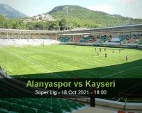 Alanyaspor Kayseri betting prediction (18 October 2021)